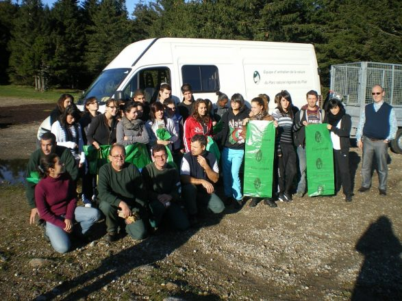 Nettoyage site Oeillon avec Lycee Montgolfier Annonay