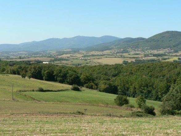 Le_plateau_du_Pilat_Rhodanien_avec_la_chaine_des_Crets_en_toile_de_fond