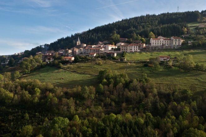 La Valla en Gier, Le Bourg, Vue rapprochee