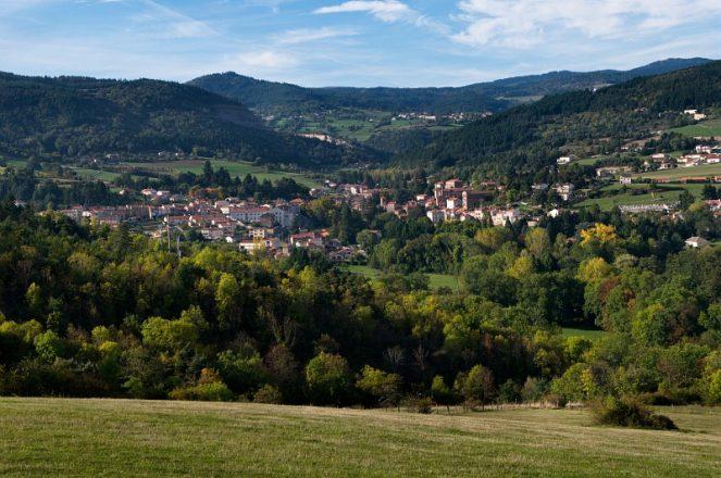 Saint-Julien-Molin-Molette- Le Bourg- Vallee du Ternay